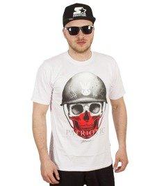 Patriotic-New Skull T-Shirt Biały