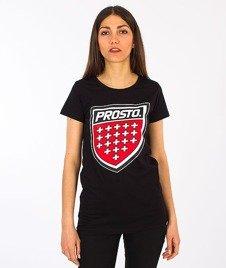 Prosto-Front T-shirt Damski Black
