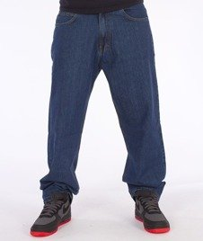 SmokeStory-Classic Baggy Jeans Medium Blue