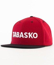 Tabasko-Script Snapback BordowyCzarny