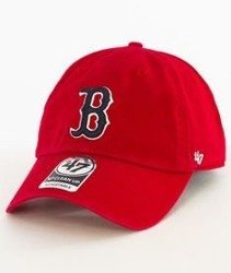 47 Brand-Clean Up Boston Red Sox Czapka z Daszkiem Czerwnona