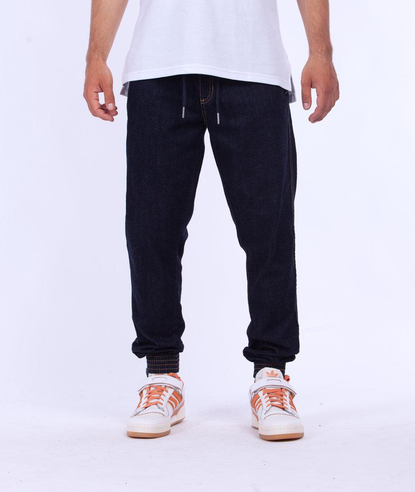 Biuro Ochrony Rapu SKIN Spodnie Jogger Jeans Guma Dark