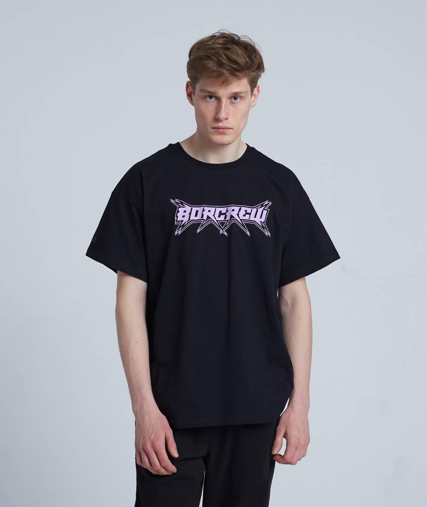 Biuro Ochrony Rapu STAR T-Shirt Oversize Czarny