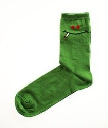 Blud-Green Smile Quarter Skarpetki Zielone