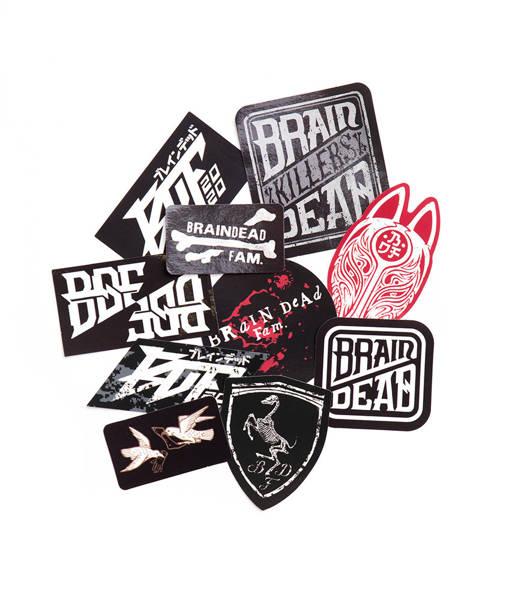 Brain Dead Familia BDF Sticker Pack Wlepy