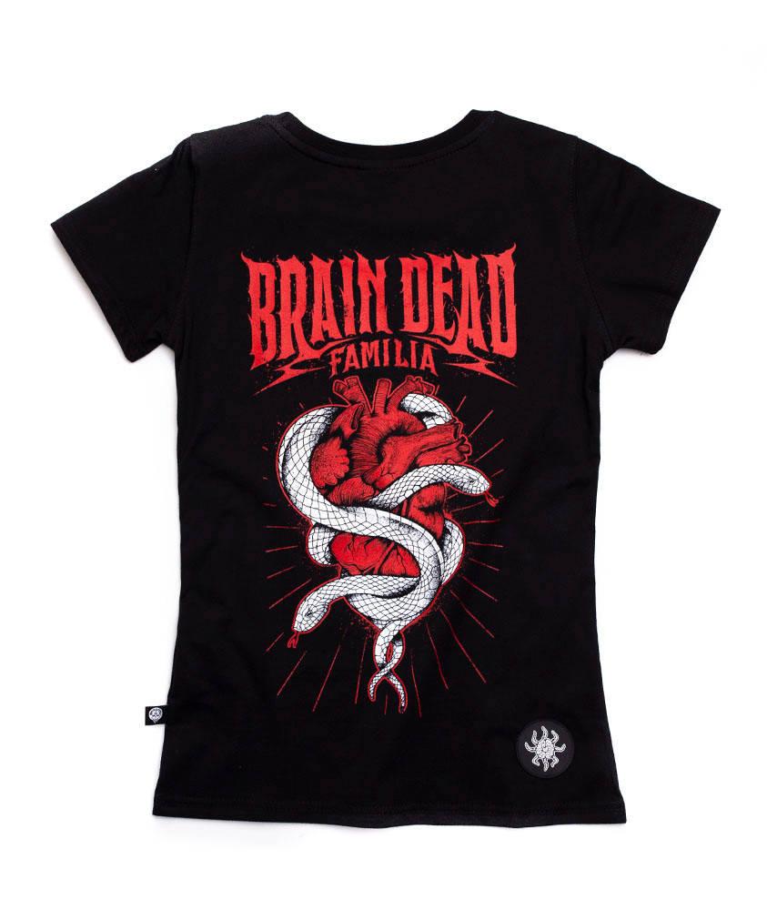 Brain Dead Familia HEART T-shirt Damski Czarny