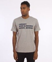 Carhartt-Bold Type T-Shirt Grey Heather/Navy
