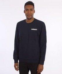 Carhartt-College Script Sweatshirt Navy/White