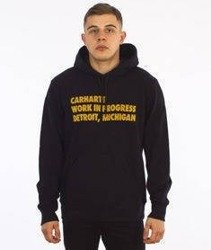 Carhartt-Hooded Bold Type Sweat Black/Quince
