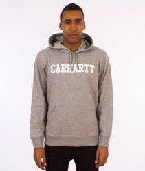 Carhartt-Hooded College Sweat Bluza Kaptur Grey Heather/White