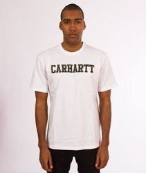 Carhartt WIP-College T-Shirt White/Camo Tiger