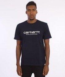 Carhartt-Wip Script T-Shirt  Navy/White