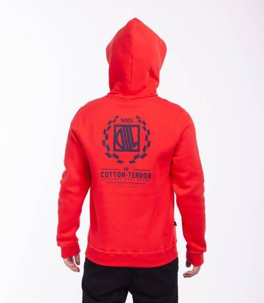 DIIL RACTER Bluza z Kapturem Czerwony