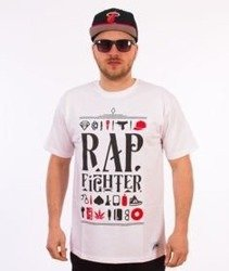 DIIL-Rap Fighter T-Shirt Biały