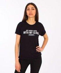 Diamante-Clique T-shirt Damski Czarny