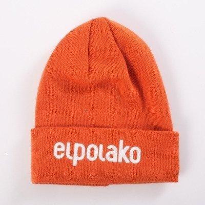 El Polako-BASIC Czapka  zimowa wywijana POMARAŃCZ