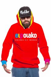 El Polako COW Bluza z Kapturem Czerwony