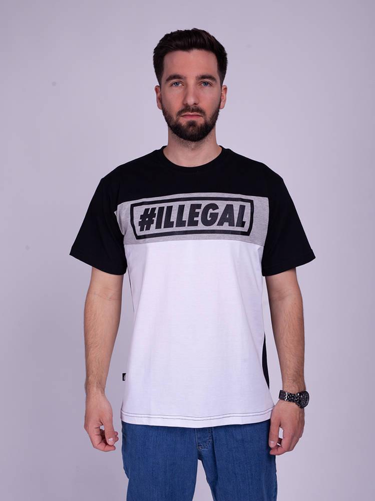 Illegal 3 COLOR T-Shirt Biały/Czarny
