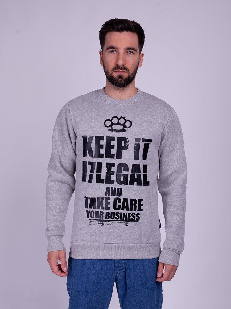 Illegal KEEP Bluza Szary