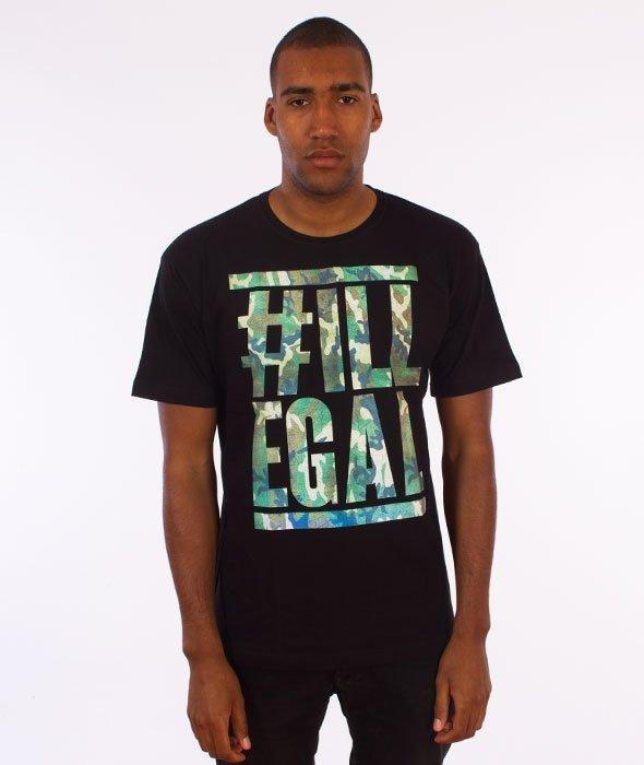 Illegal-Moro Belt  T-Shirt Czarny
