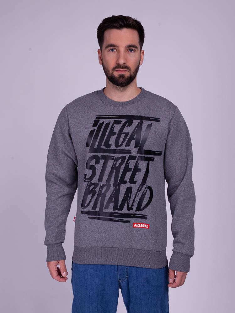 Illegal STREET BRAND Bluza ciemny Szary