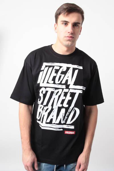 Illegal-Street Brand T-Shirt Czarny