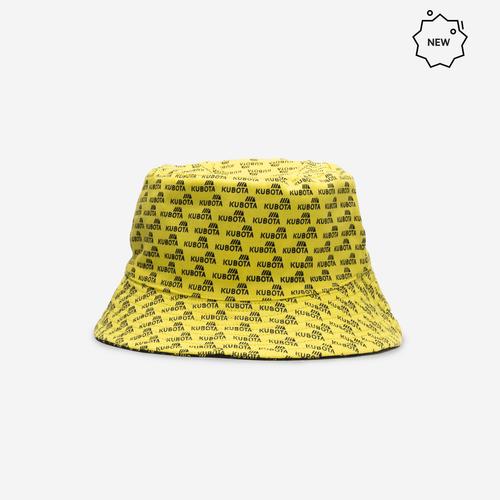 Kubota EASY Bucket Hat Czarny/Żółty