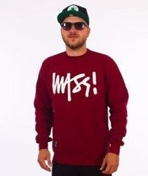 Mass-Signature Crewneck Bluza Bordowa