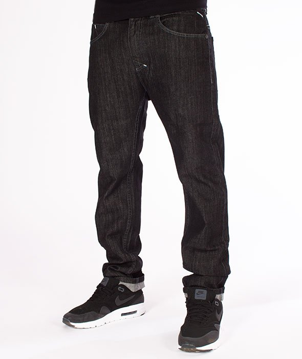 Mass-Signature Tapered Fit Jeans Spodnie Black Rinse