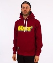 Mass-Work Hoody Bluza Kaptur Bordo