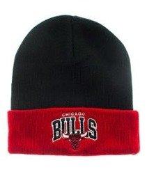 Mitchell & Ness-Chicago Bulls EU349 Archet Cuff Knit Czapka Zimowa Czarna/Czerwona