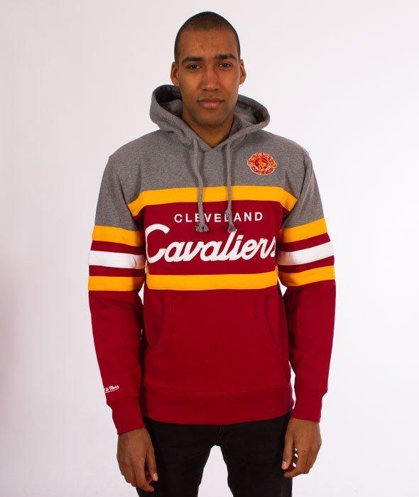 Mitchell & Ness-Head Coach Hoody Bluza Kaptur Cleveland Cavaliers