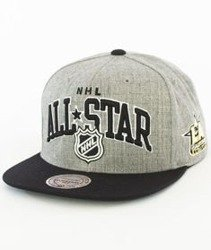 Mitchell & Ness-NHL All Star 2017 ASG Arch Snapback Szary/Czarny