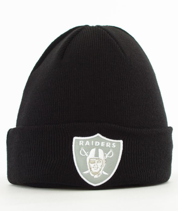 New Era-Oakland Raiders Night Ops Cuff Czapka Zimowa Czarna