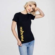 Patriotic PatGirl T-Shirt Damski Czarny