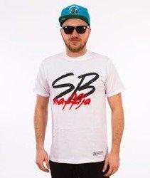 SB Maffija-Big Logo T-Shirt Biały