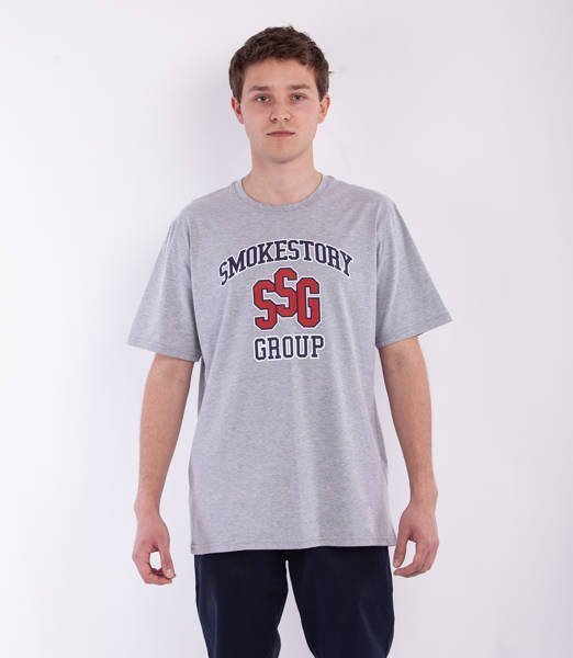 Smoke Story COLLEGE T-Shirt Szary