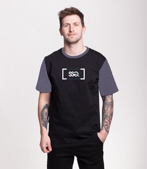 Smoke Story CUT LOGO T-Shirt Czarny/Szary