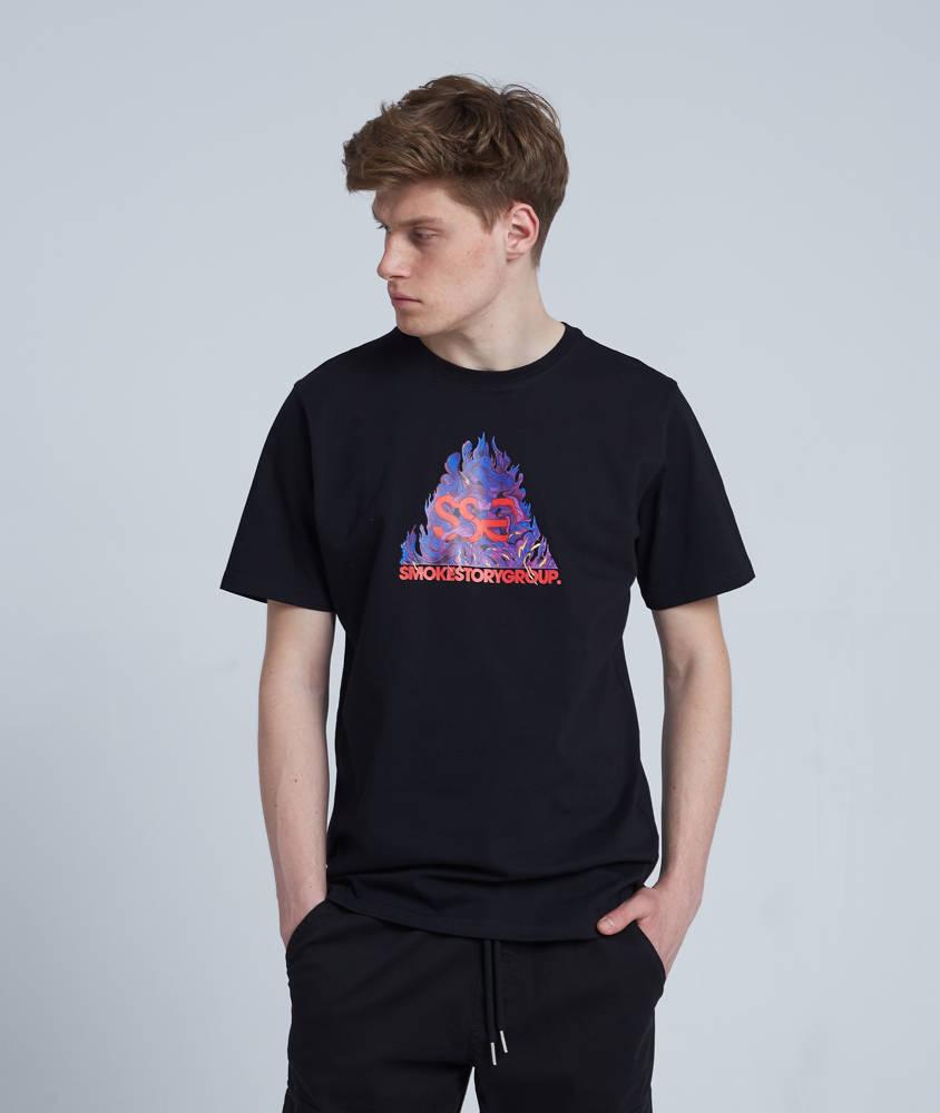 Smoke Story SSG FIRE T-Shirt Czarny