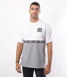 SmokeStory-08 Line T-Shirt Biały/Szary