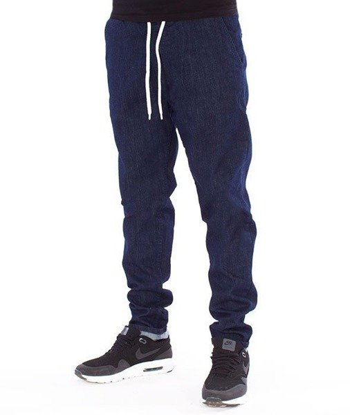SmokeStory-Jeans Stretch Straight Fit Guma Spodnie Jeans Dark