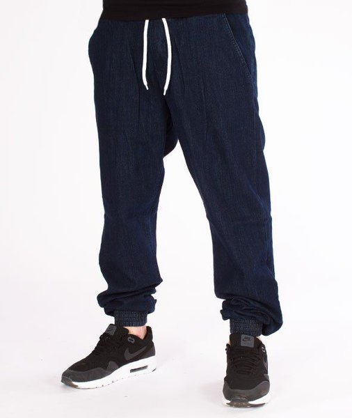 SmokeStory-Jogger Jeans Regular Guma Dark Blue
