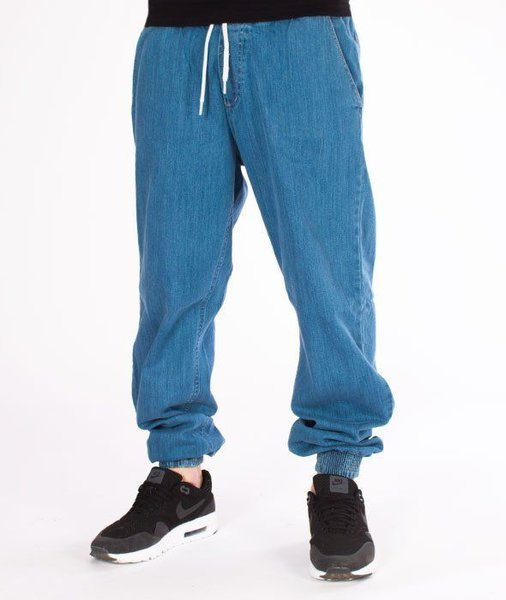 SmokeStory-Jogger Jeans Regular Guma Light Blue