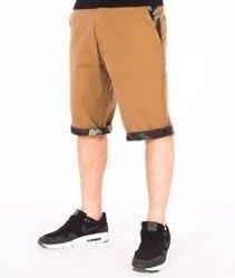 SmokeStory-Moro Wstawki Krótkie Spodnie Slim Beżowe