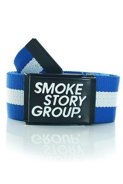 SmokeStoryGroup - Pasek Smoke Story Group Chabrowy/Biały