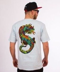 Stussy-Neon Dragon T-Shirt Light Blue