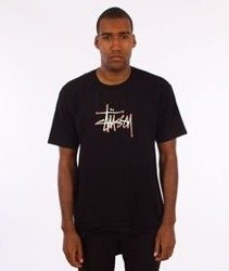 Stussy-Stipple T-Shirt Black
