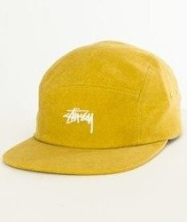 d733ac7f791 Stussy-Washed Oxford Canvas Camp Cap Czapka Mustard