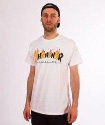 Thrasher-Flame Mag T-Shirt Biały