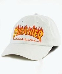 Thrasher-Flame Old Timer Snapback White